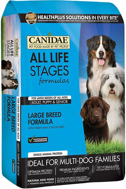 Canidae All Life Stages Large Breed Turkey Meal with Brown Rice, Multi- Dog Families, Dry Dog Food, 30 Lb - iPupnStuff.com