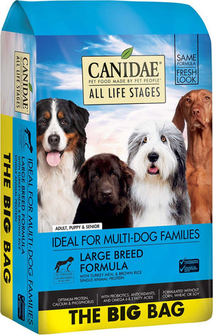 CANIDAE All Life Stages Large Breed Turkey Meal & Brown Rice Formula Dry Dog Food, 44 lbs. - iPupnStuff.com