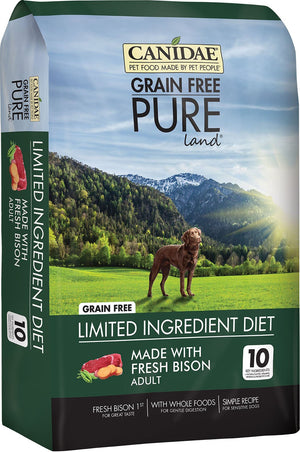 CANIDAE PURE Real Bison, Lentil & Carrot Recipe Dry Dog Food, 4 lbs. - iPupnStuff.com