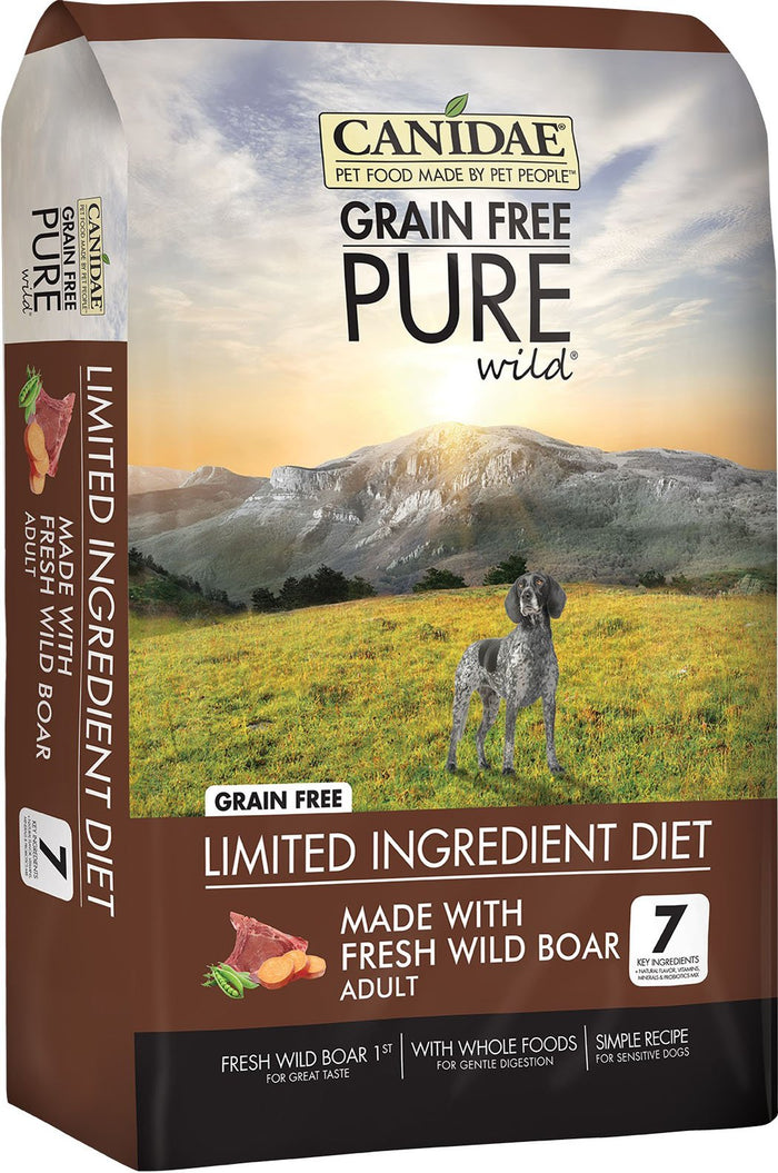 Canidae Pure Wild Grain-Free Adult Formula Dry Dog Food, 24 lb
