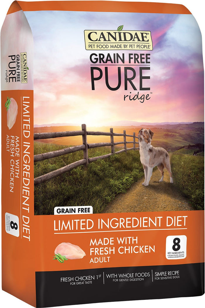 CANIDAE PURE Real Chicken, Lentil & Pea Recipe Dry Dog Food, 12 lbs.
