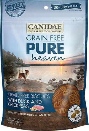 Canidae Pure Heaven Biscuits Dog Treats Duck And Chickpeas 11 Oz - iPupnStuff.com