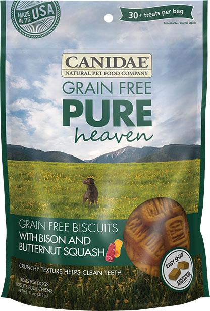 Canidae Pure Heaven Biscuits Dog Treats Bison And Butternut Squash 11 Oz