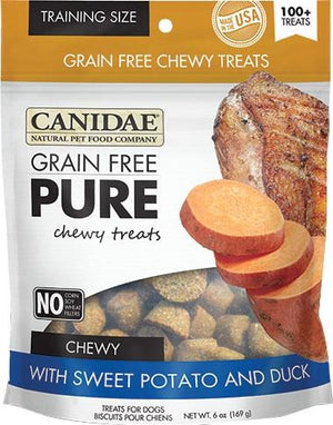 Canidae Pure Chewy Treats Dog Treats Sweet potato And Duck 6 Oz - iPupnStuff.com