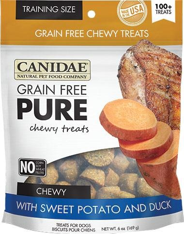 Canidae Pure Chewy Treats Dog Treats Sweet potato And Duck 6 Oz