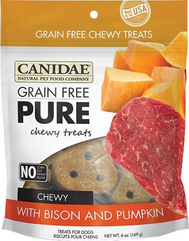 Canidae Pure Chewy Treats Dog Treats with Bison And Pumpkin 6 Oz