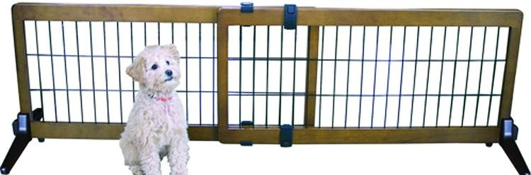 Freestanding-pressure Mount Wooden Pet Gate - iPupnStuff.com
