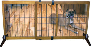Freestanding-pressure Mount Wooden Pet Gate