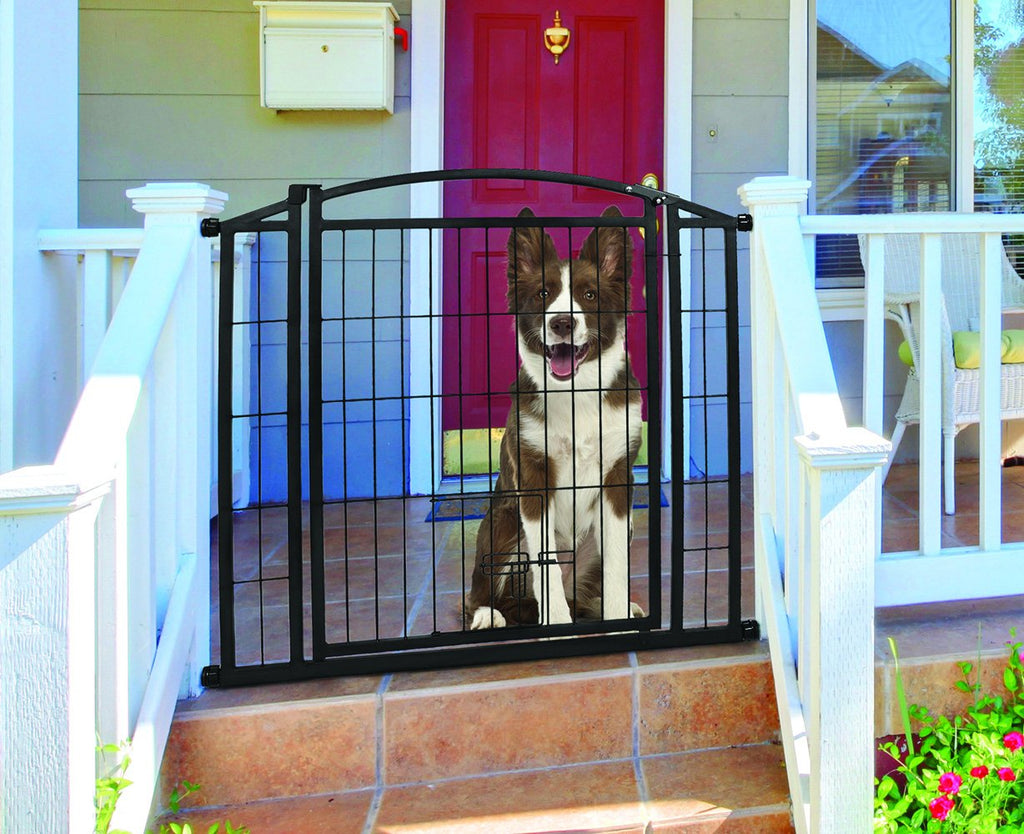 Outdoor Walk-thru Gate With Small Pet Door - iPupnStuff.com