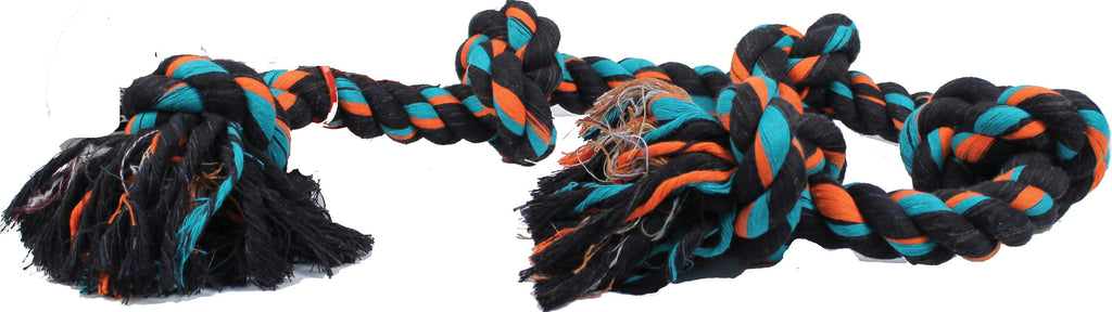Flossy Chews Color 5 Knot Rope Tug Dog Toy - iPupnStuff.com
