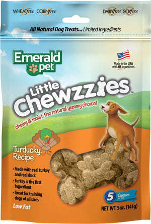 Emerald Pet Little Chewzzies Dog Treats 5 Oz Turkey - iPupnStuff.com