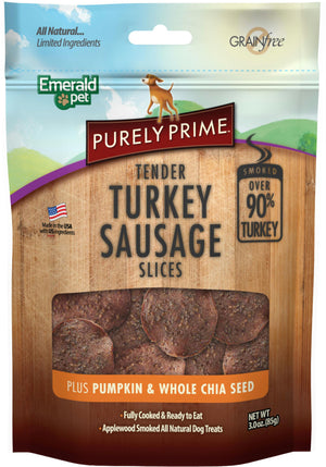 Purely Prime Turkey Sausage Slices - iPupnStuff.com