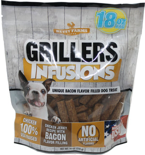 Betsy Farms Jerky Treats With Bacon Filling, 18 Oz Chicken Jerky Treats For Dogs - iPupnStuff.com