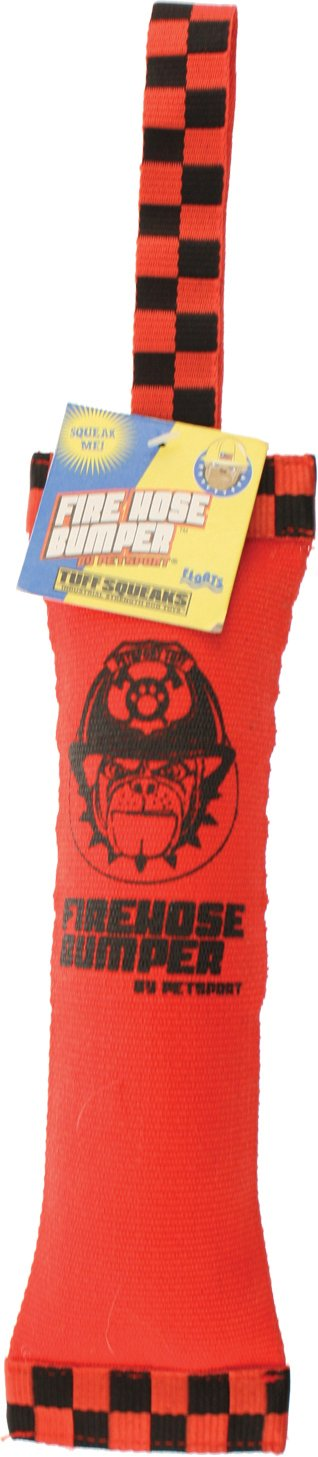 Tuff Squeaks Fire Hose Bumper Dog Toy