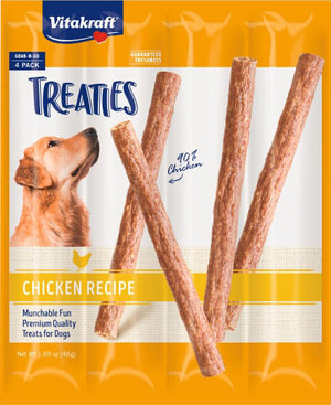 Vitakraft Treaties Smoked Chicken Recipe for Dogs,  Guaranteed Fresh, 4 Pack