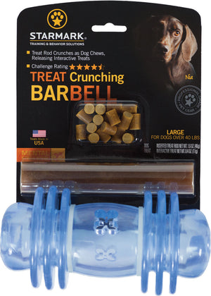 Treat Dispensing Barbell Dog Chew