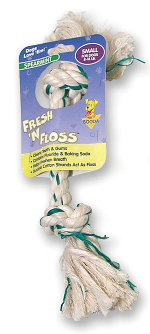 Fresh-n-floss 2-knot Rope Bone Dog Toy - iPupnStuff.com