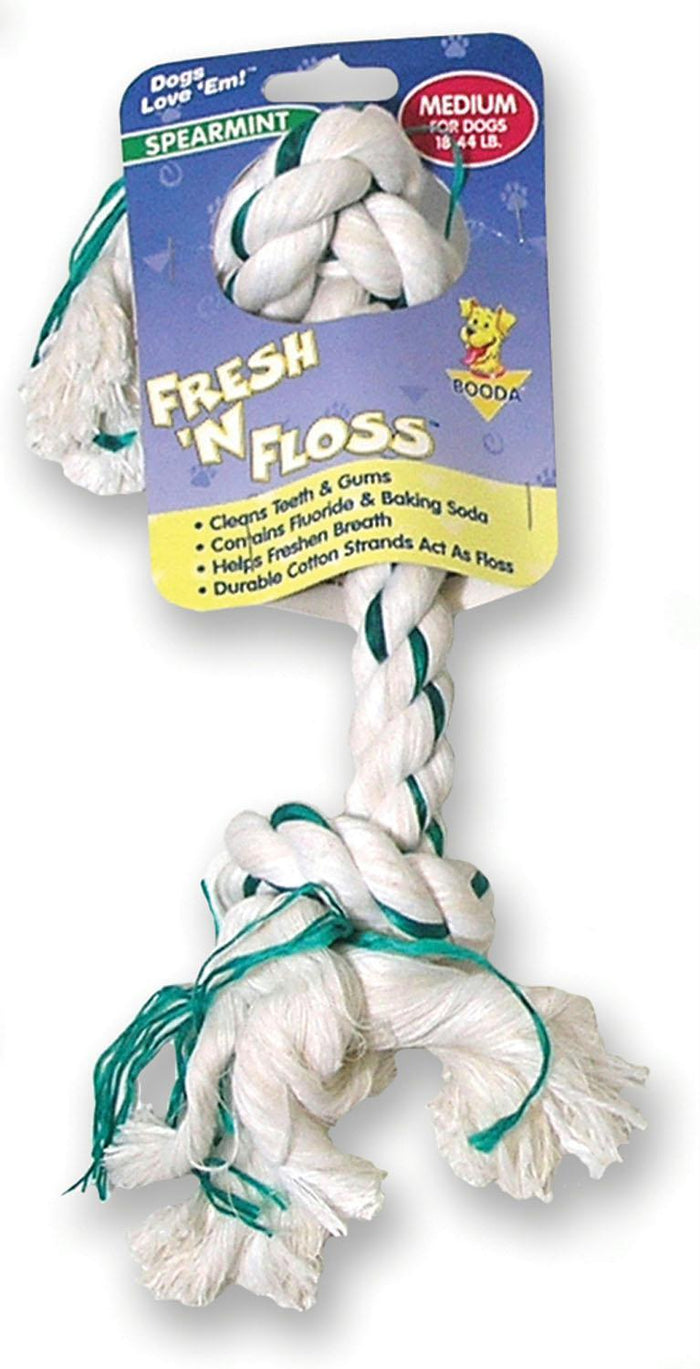 Fresh-n-floss 2-knot Rope Bone Dog Toy