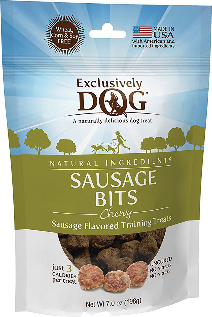 Chewy Sausage Bits Dog Treats 7 Oz