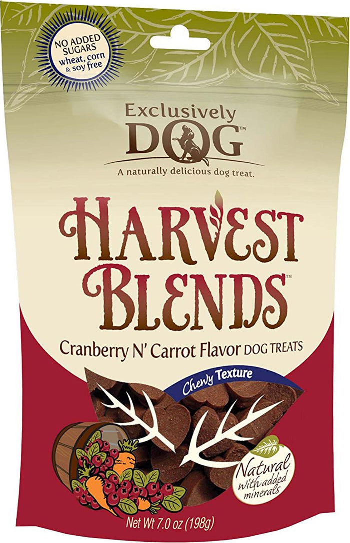 Exclusively Dog Harvest Blends Cranberry N' Carrot Flavor 7 oz