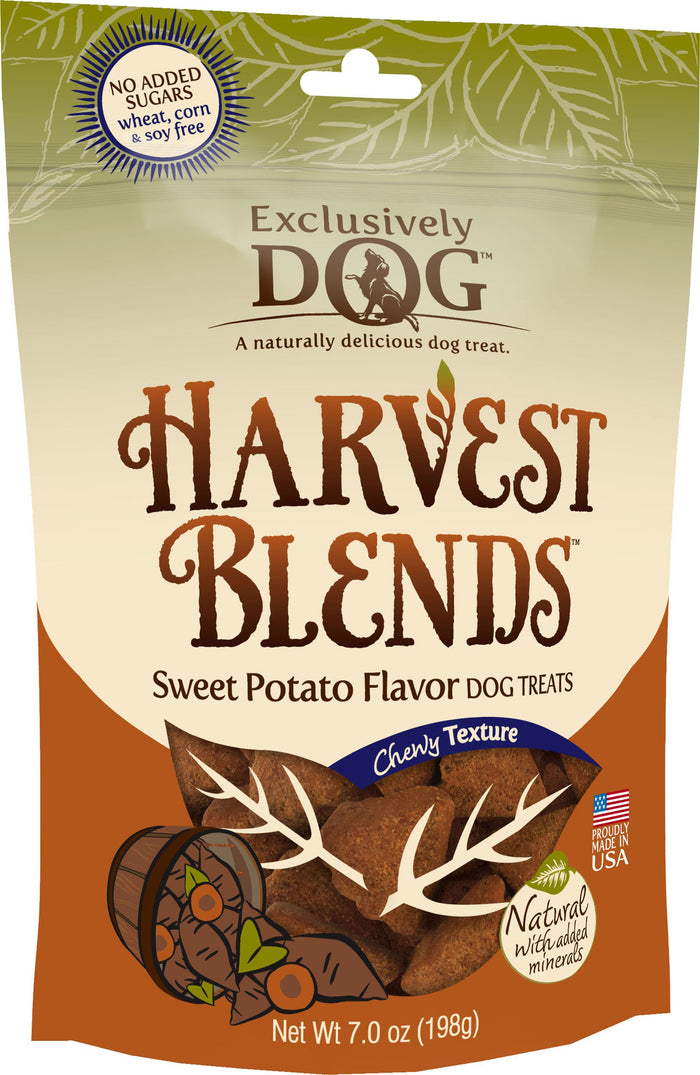 Exclusively Dog Harvest Blends Sweet Potato Flavored Treats, 7-Ounce Pouches