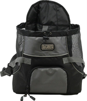 Outward Hound PoochPouch Front Dog Carrier, Medium, Black/Gray