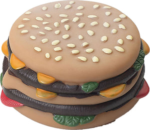 Vinyl Hamburger With Tomato & Pickle Dog Toy