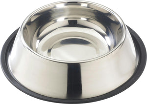 Stainless Steel Mirror Finish No Tip Dish 64 Ounce - iPupnStuff.com