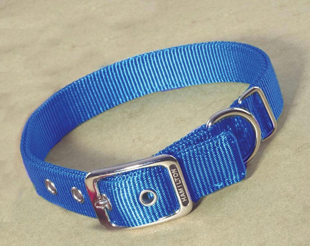Double Thick Nylon Dog Collar 1x32 In - iPupnStuff.com