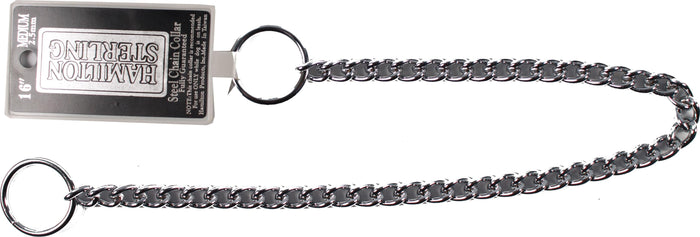 Medium Choke Chain Dog Collar