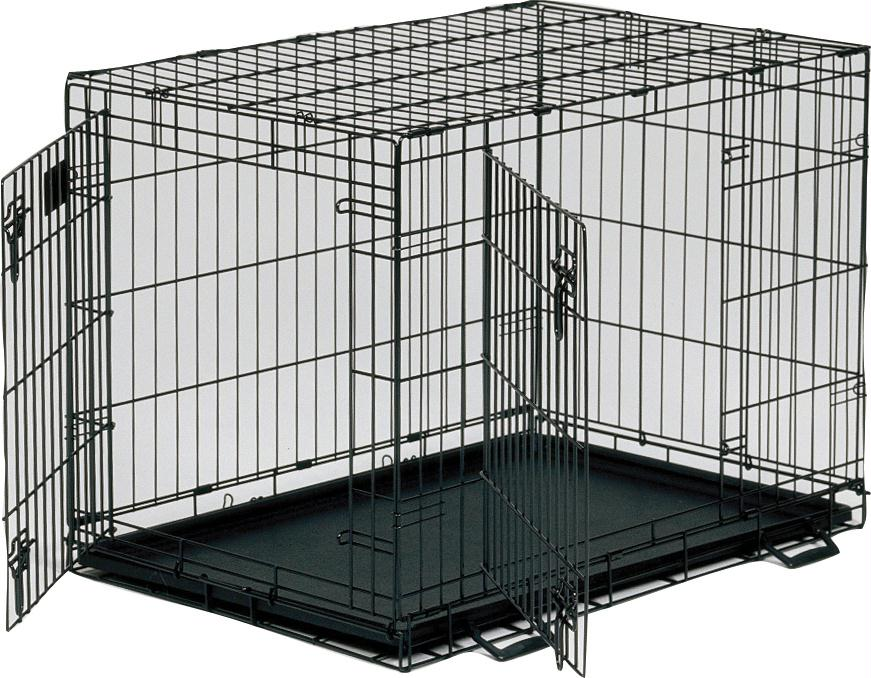 "Midwest Life Stages Double Door Dog Crate 36""L x 24""W x 27""H"