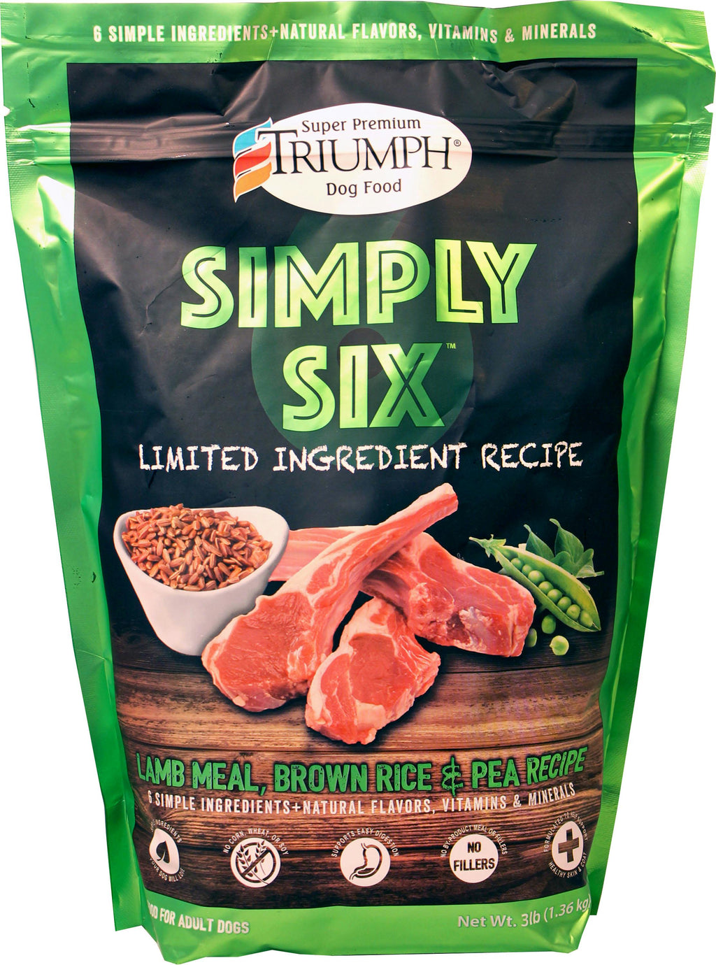 Triumph Simply Six Limited Ingredient Dog Food