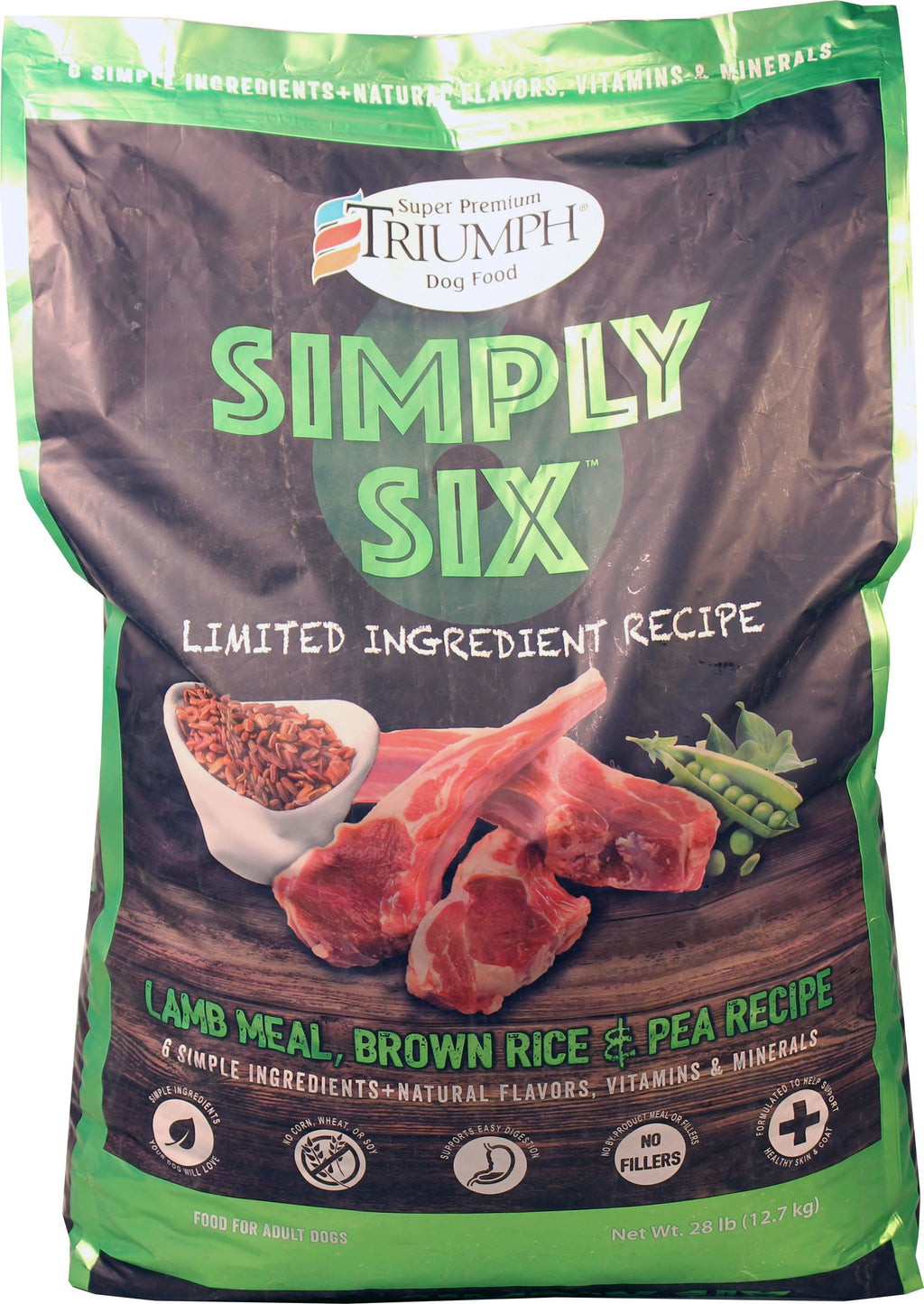 Triumph Simply Six Limited Ingredient Dog Food - iPupnStuff.com