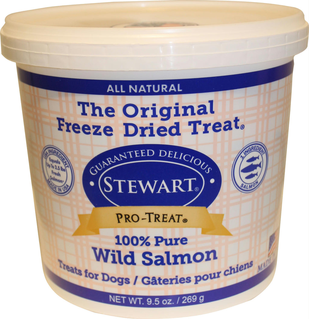 Stewart Pro-Treat, Freeze Dried Dog Treats, Grain Free, USA Made Salmon