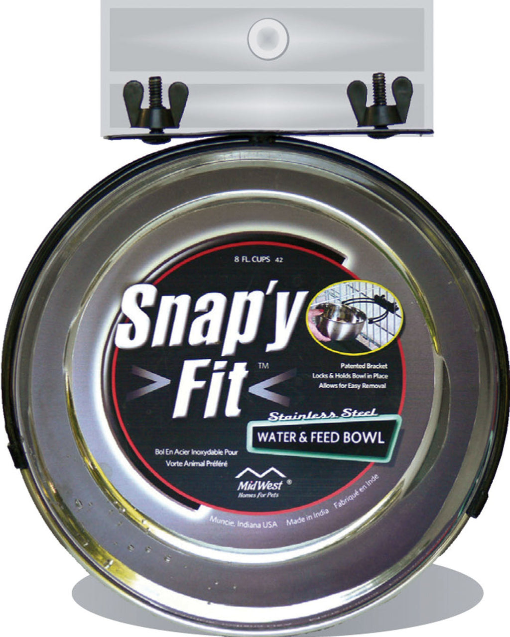Snap'y Fit Dog Bowl