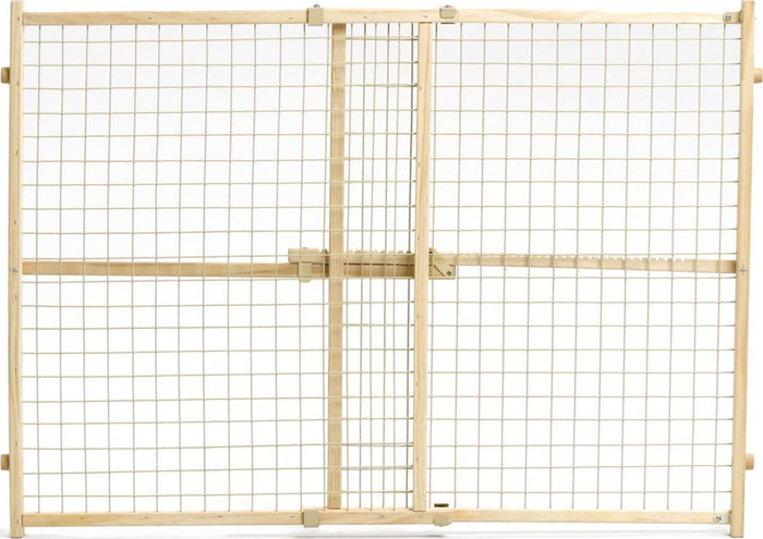 Wood-wire Mesh Pet Gate