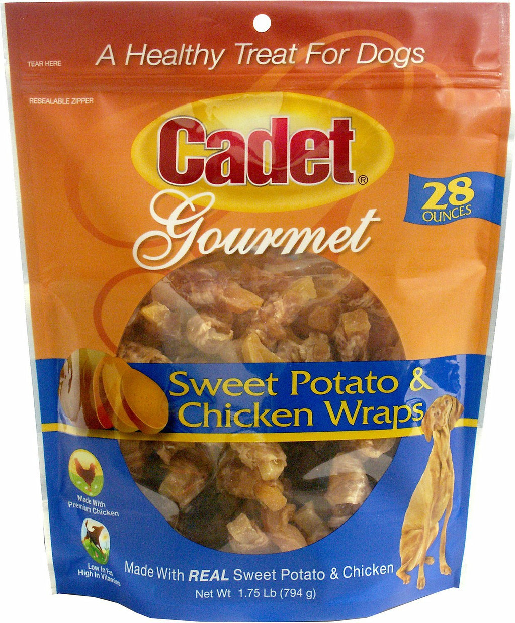 Cadet Gourmet Chicken And Sweet Potato Wraps 28 Oz - iPupnStuff.com