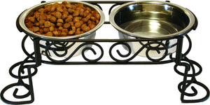 Stainless Steel Scroll Work Double Diner 1 Quart