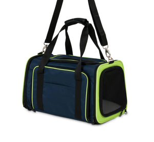Petmate Inc-Carriers-See & Extend Pet Carrier- Navy 18 Inch - iPupnStuff.com