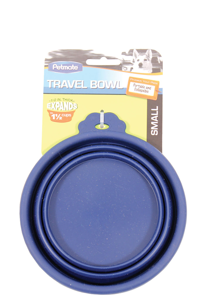 Silicone Round Travel Bowl For Dogs & Cats