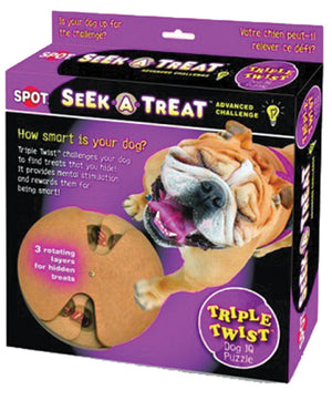 Seek-a-treat Adv Challenge Triple Twist Dog Toy