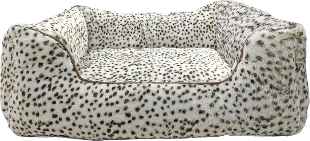 Sleep Zone Snow Leopard Step In Bed