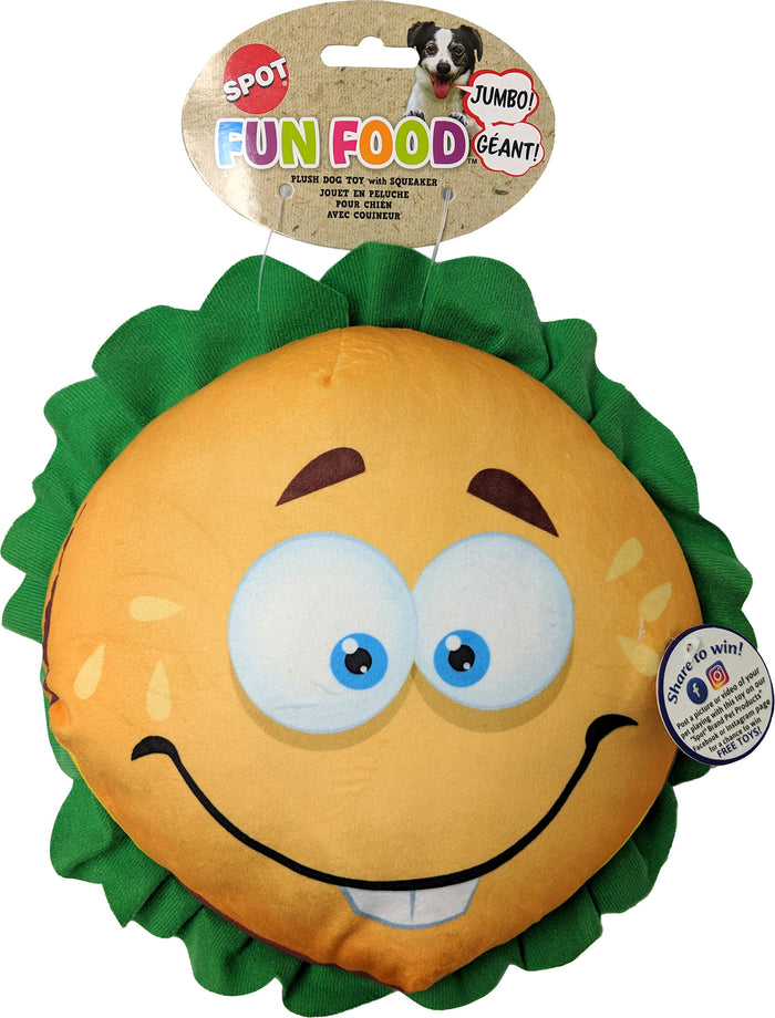 Fun Food Jumbo Hamburger Plush Toy