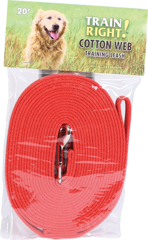 Train Right! Cotton Web Dog Training Leash