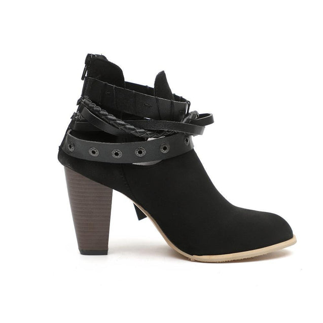 Buckle Up Booties - Black - TGCboutique