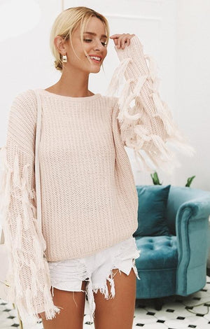 Tasseled Daydream Sweater - TGC Boutique