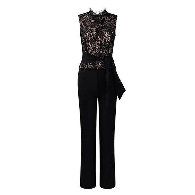 Date Night Lace Jumpsuit - TGCboutique