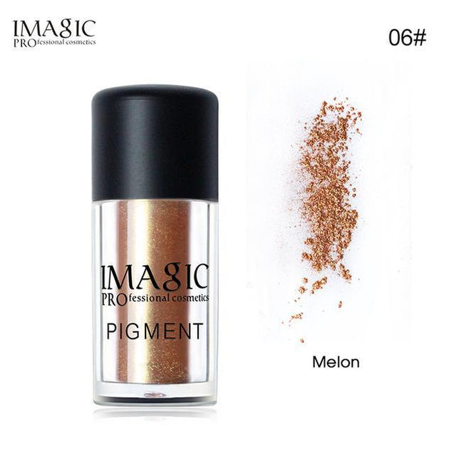 IMAGIC Pro Glitter Eyeshadow Loose Powder Shimmer Eye Shadow Nude Pigments Metallic Sparkling Makeup Beauty Cosmetics 9 Colors - TGCboutique