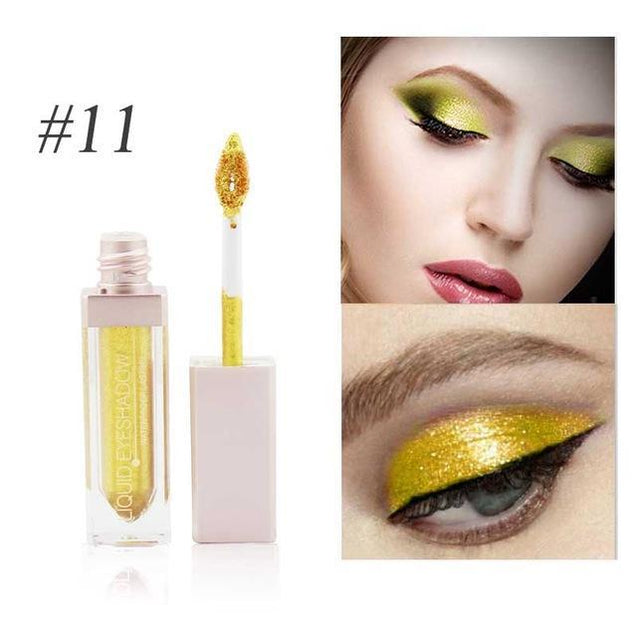 New Brand Makeup Waterproof Liquid Eyeshadow Glitter White Gold Red Color Pigments Shimmer Eye Shadow Stick Cosmetics - TGCboutique
