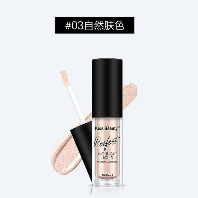 2017 New Kiss Beauty Brand Highlighter Contour Cosmetics Long Lasting Face Brighten Shimmer Glow Liquid Highlighters Makeup - TGCboutique